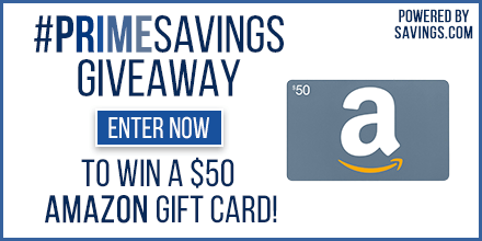 Amazon PrimeSavings Giveaway