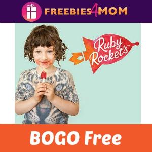 BOGO Free Ruby Rocket's Veggie & Fruit Pops