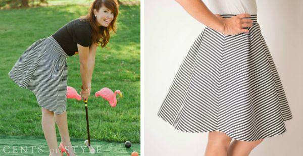 Circle Striped Midi Skirt $29.95 (+ Tee Deal)