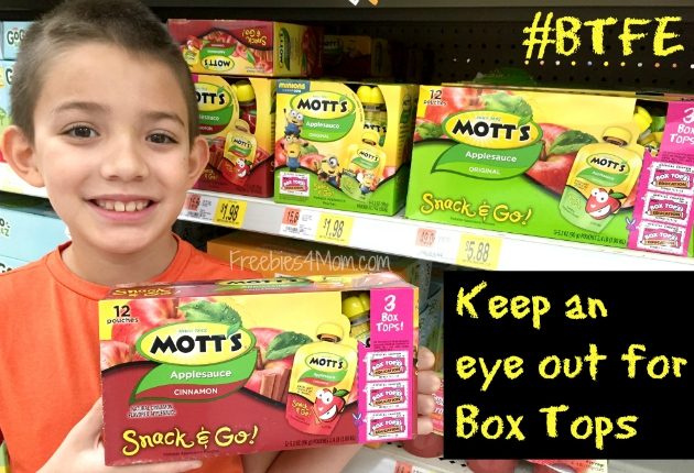 Keep an eye out for Box Tops while grocery shopping