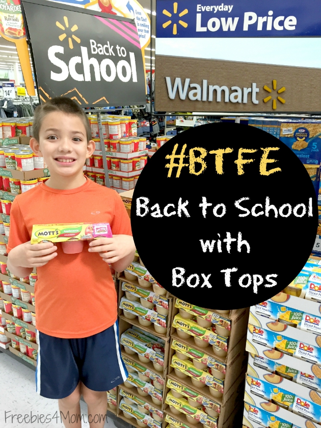 Back to School with Box Tops™ for Education