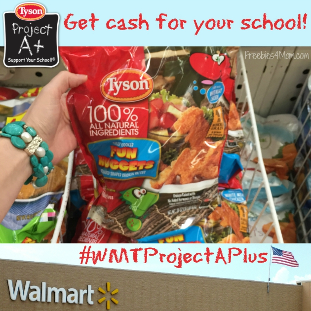 Get cash for your school at Walmart with Tyson Project A+
