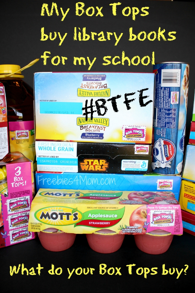 My Box Tops buy library books for my school