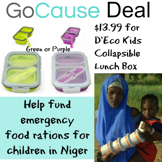 GoCause Deal: $13.99 for D'Eco Kids Lunch Box