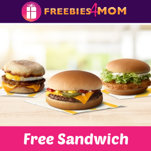 🍔Free Sandwich at McDonald's (new app users)