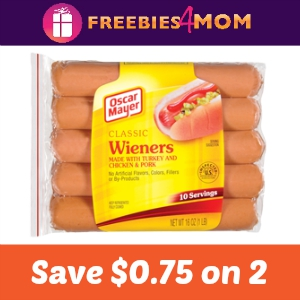 Coupon: Save $0.75 off 2 Oscar Mayer Hot Dogs