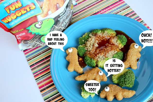 Tyson Fun Nuggets with Quinoa Volcanoes and Broccoli Trees Kid-Friendly Recipe