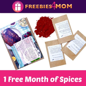 1 Free Month of Spices from RawSpiceBar