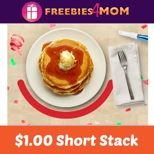 $1.00 Short Stack Pancakes at IHOP May 21