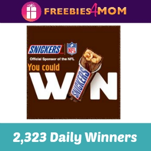 Sweeps Snickers NFL (2,323 Winners Per Day!)