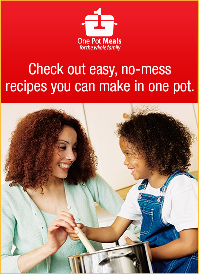 One Pot Meals for the whole family at Walmart