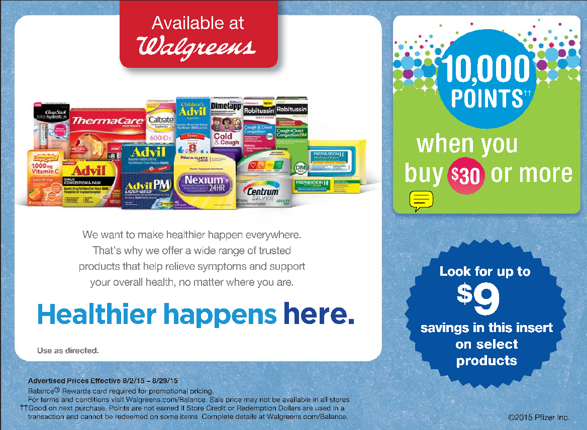 Walgreens Deal Buy Pfizer Products Get 10 000 Balance