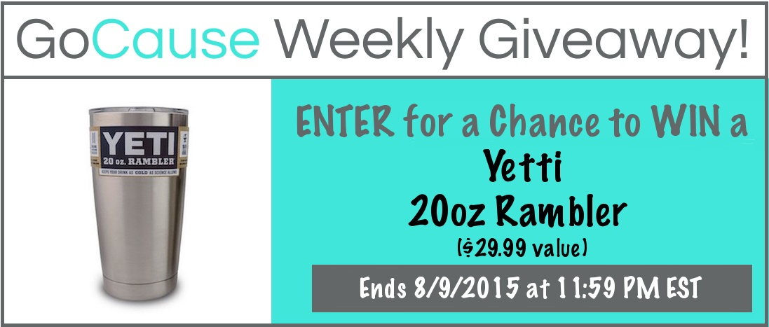 GoCause Giveaway for Yetti 20 oz. Rambler