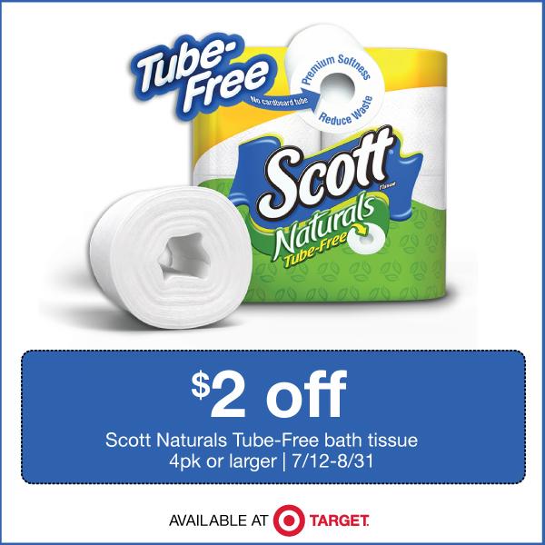 Save $2.00 on Scott Naturals Tube-Free bath tissue
