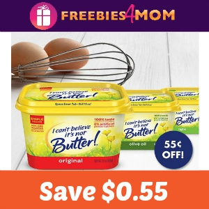 Save $0.55 on I Can't Believe It's Not Butter