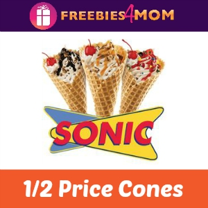 Sonic 1/2 Price Cones Sept. 23