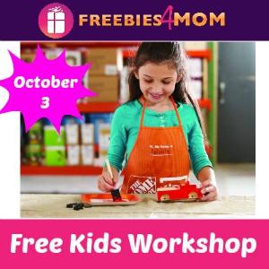 Free Kids Workshop at Home Depot Oct. 3