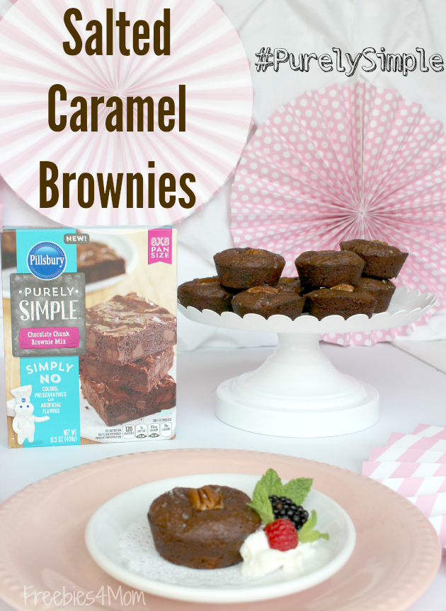 Salted Caramel Chocolate Chunk Brownies easy brownie recipe