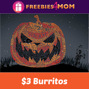 $3 Burritos at Chipotle on Halloween