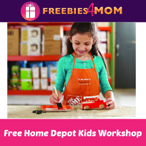 Free Kids Workshop at Home Depot Dec. 7