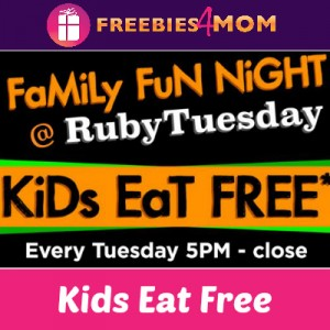 Kids Eat Free Every Tuesday at Ruby Tuesday