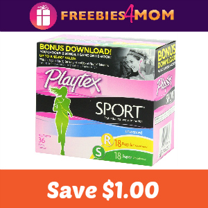 Coupon: Save $1.00 on Playtex Sport Tampons