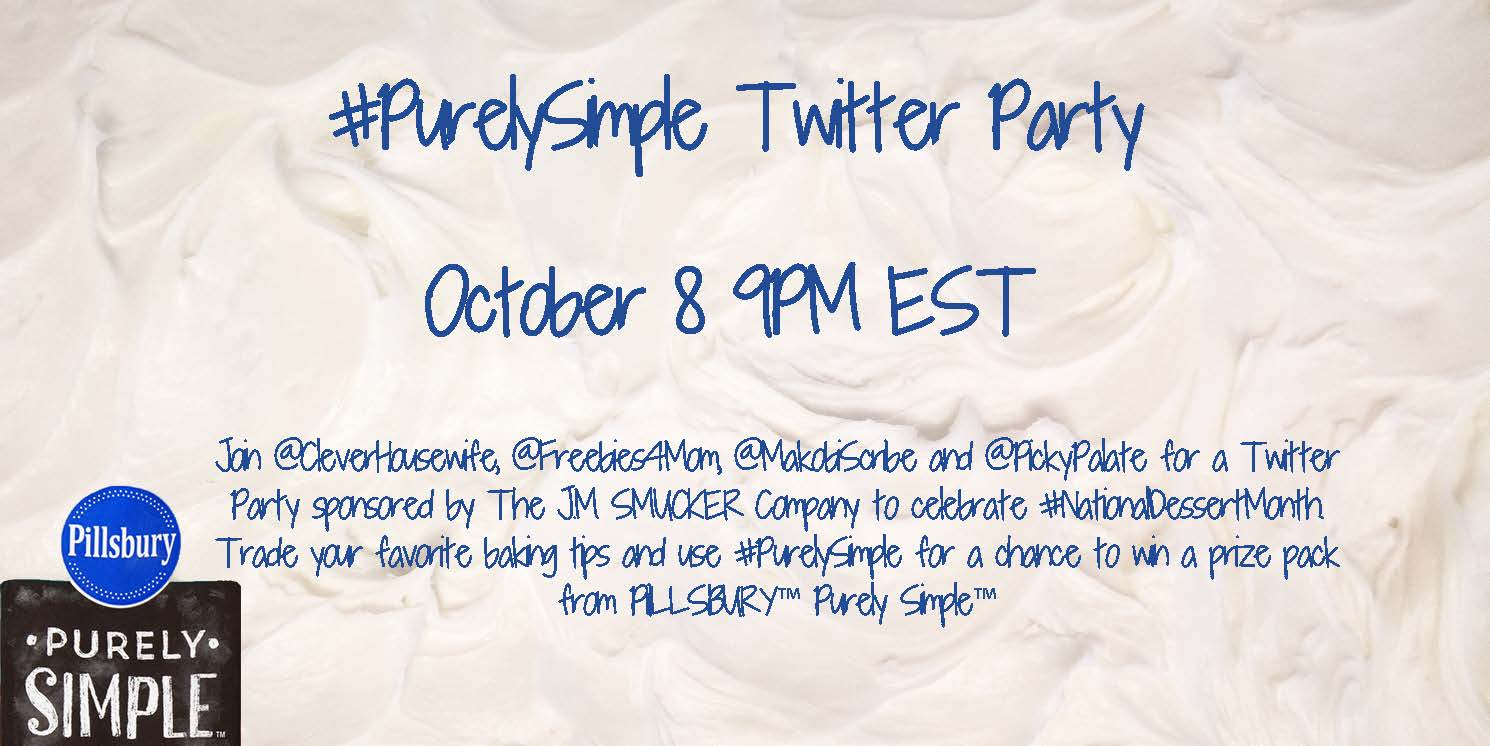 Pillsbury #PurelySimple Twitter Party Oct. 8 9pm ET