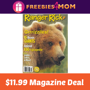 Magazine Deal: Ranger Rick $11.99