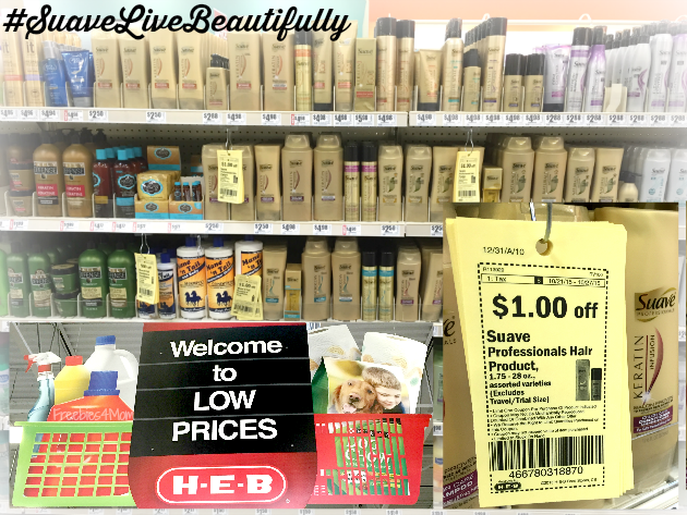 Suave Professionals Hair Product H-E-B Coupon