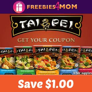 Save $1.00 off any Tai Pei Single Serve Entrée