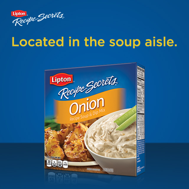 Lipton Recipe Secrets located in the soup aisle