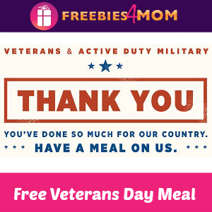 Applebee's Free Meal for Military Nov. 11