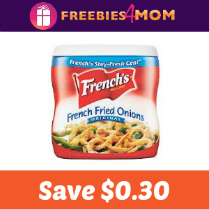 Save $0.30 off French's Crispy Fried Onions