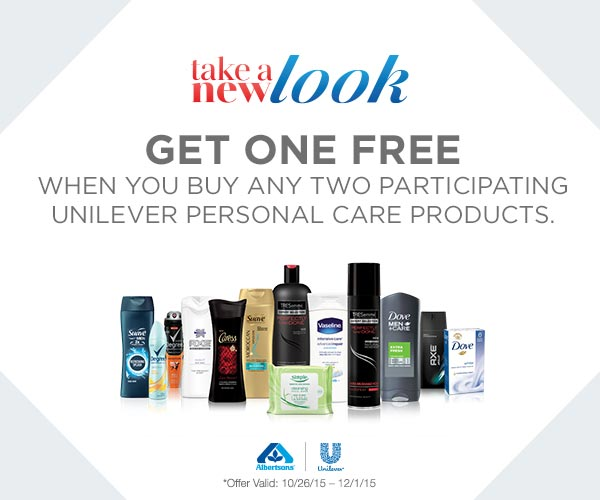 Albertsons Deal: Buy 2, Get 1 Free Unilever Personal Care Products
