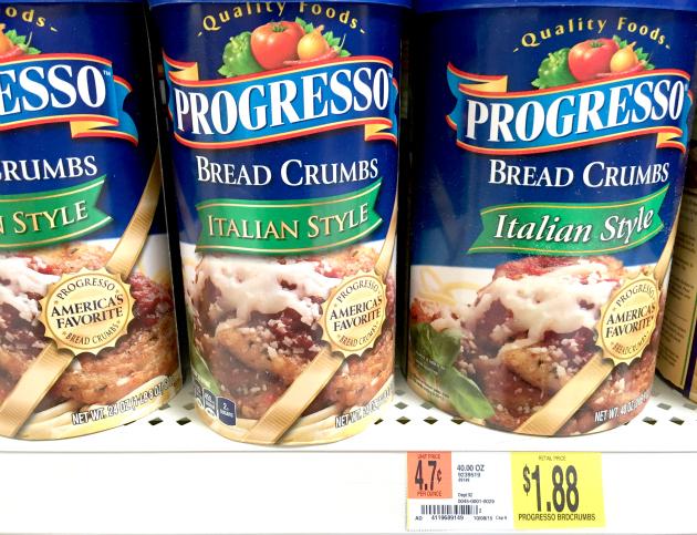 Progress Bread Crumbs at Walmart