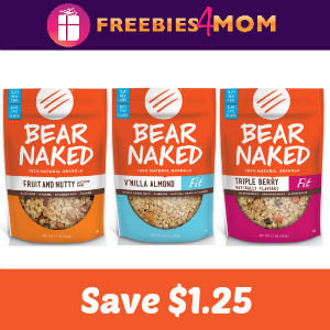 Coupon: $1.25 off one Bear Naked Granola