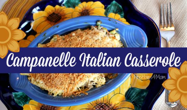 Campanelle Italian Casserole comfort food recipe