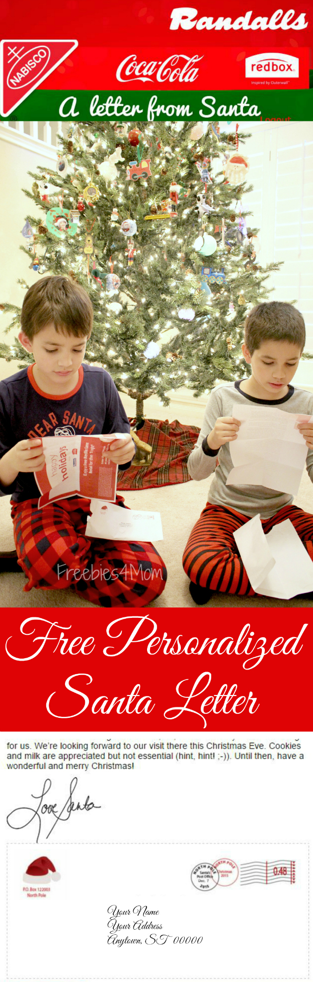 Free Personalized Letter From Santa With Envelope