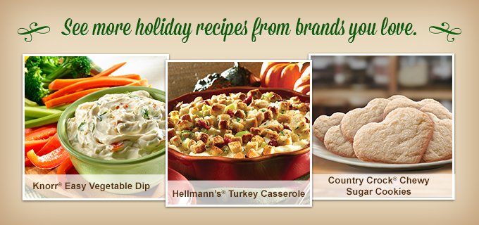 Holiday Recipes from the brands you love at Walmart