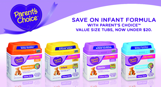 Save on Parent's Choice Formula at Walmart