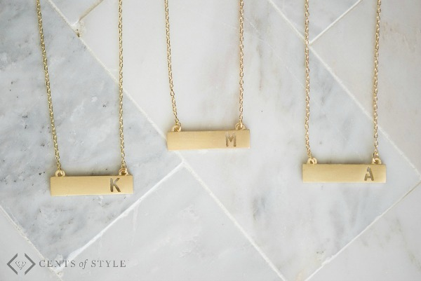 $5.99 Monogram Jewelry Blowout