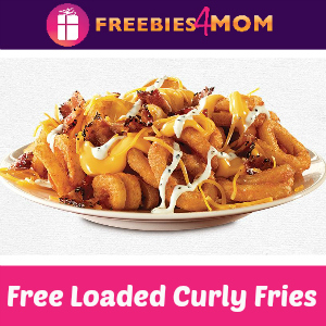 Free Loaded Curly Fries with purchase at Arby's