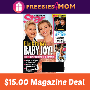 Magazine Deal: Star $15.00
