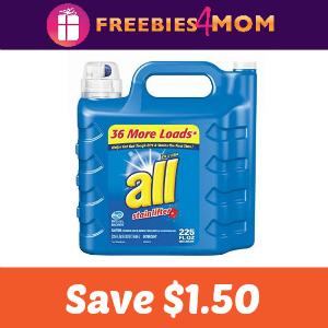 Save $1.50 off one all Liquid Detergent