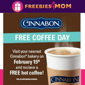 Free Coffee at Cinnabon Feb. 15