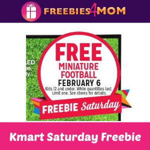Free Miniature Football at Kmart Feb. 6