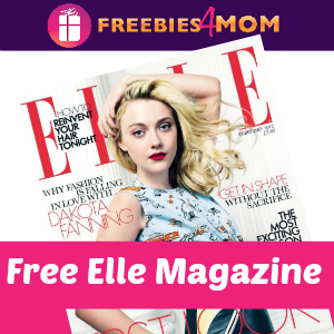 Free Elle Magazine ($10 value)