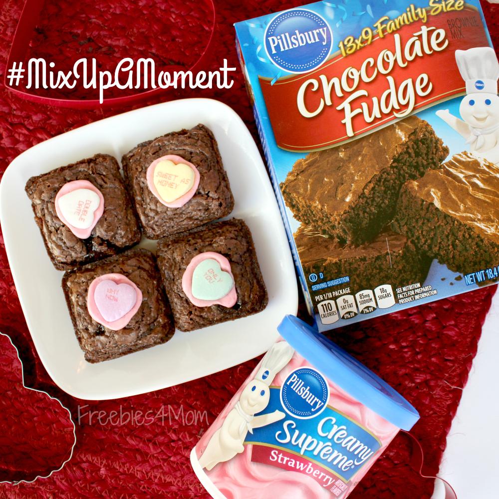 Strawberry Hearts Pillsbury Brownies