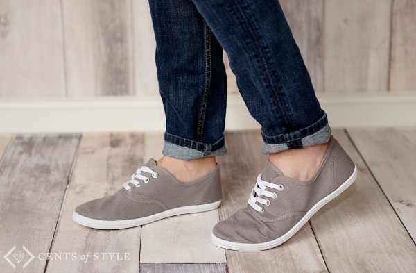 Women's Canvas Sneakers $15.95