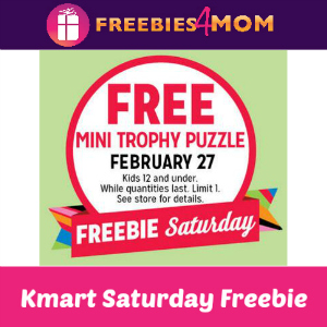 Free Mini Trophy Puzzle for Kids at Kmart
